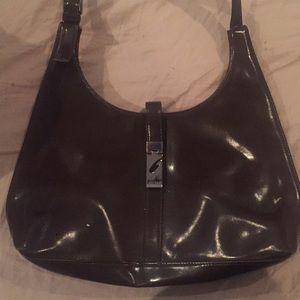 Brown leather Guess tote